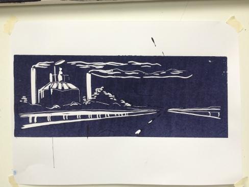 McCain fabriek Linodruk op papier