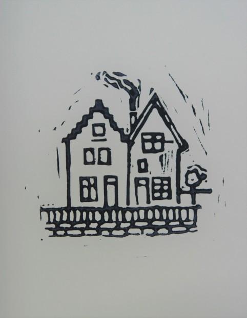 Buren 2017 Linodruk op papier 10 x 20 cm (In privébezit )